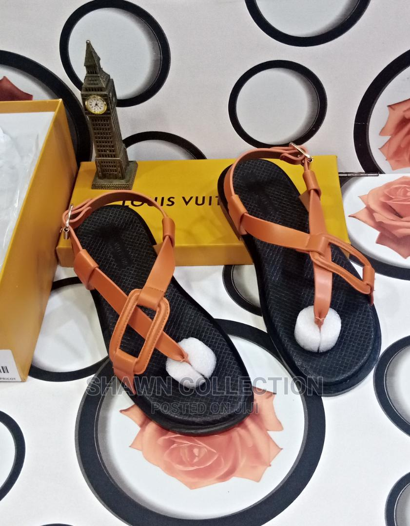 Louis Vuitton Luxury Men Leather Sandals