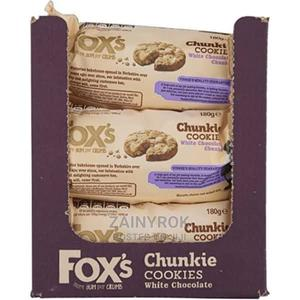 Fox's White Chocolate Chunkie Cookies - 9 Packets X 180g   Meals & Drinks for sale in Lagos State, Alimosho