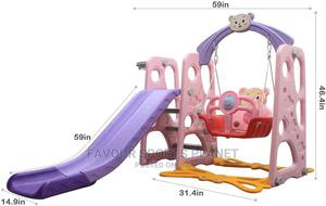Brand New Kids Slide With Swing and Basketball Hoop. | Toys for sale in Rivers State, Port-Harcourt