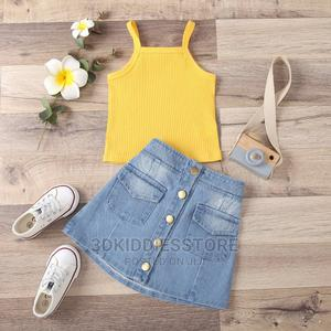 Denim Skirt With Top   Children's Clothing for sale in Lagos State, Ajah