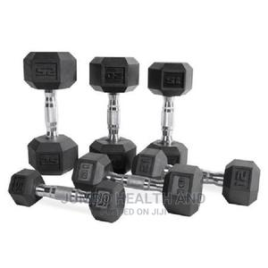 Dumbbell Weight With Rubber Head #2000 Per Kg   Sports Equipment for sale in Lagos State, Ikeja