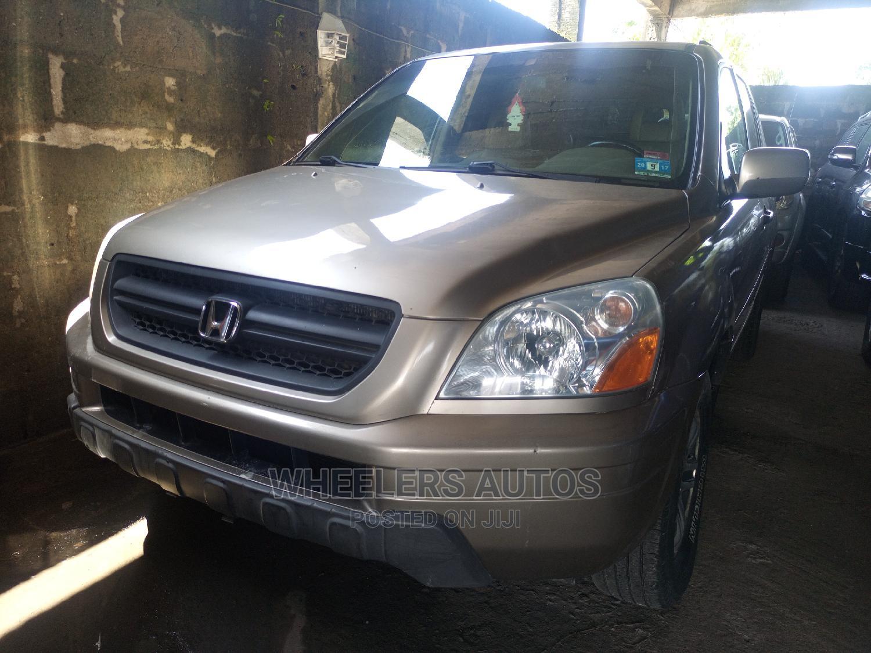 Honda Pilot 2004 EX 4x4 (3.5L 6cyl 5A) Gold   Cars for sale in Amuwo-Odofin, Lagos State, Nigeria