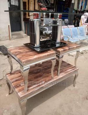 Center Table With Side Stools   Furniture for sale in Lagos State, Amuwo-Odofin