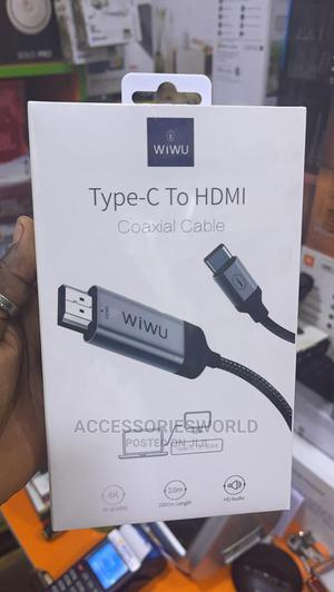 WIWU TYPE-C to HDMI Coaxial Cable   Accessories for Mobile Phones & Tablets for sale in Lagos State, Ikeja