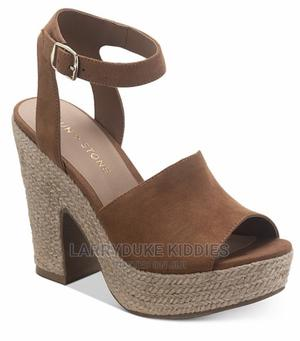 Brown Sun Stone Wedge Sandal   Shoes for sale in Lagos State, Agboyi/Ketu