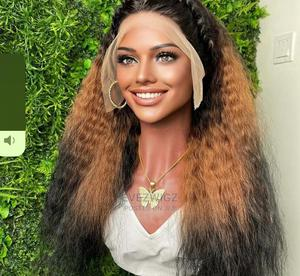 3- Tone Kinky Straight Human Hair With T Frontal   Hair Beauty for sale in Lagos State, Surulere