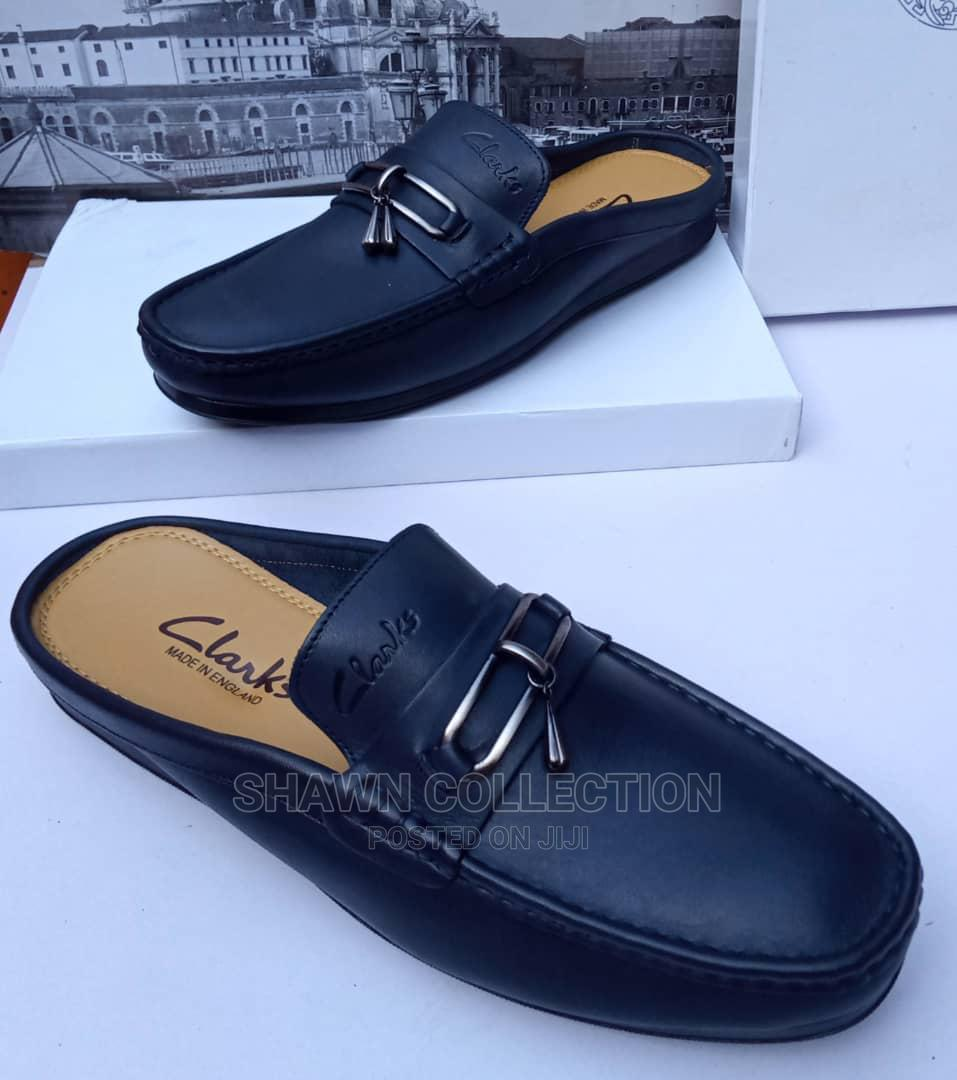 Clarks Leather Mules Loafers
