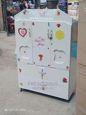 White Baby Wooden Wardrobe | Children's Furniture for sale in Lagos State, Ikoyi