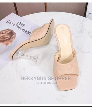 Slippers Heels Nude Slippers Party Heels Transparent Heels | Shoes for sale in Rivers State, Port-Harcourt