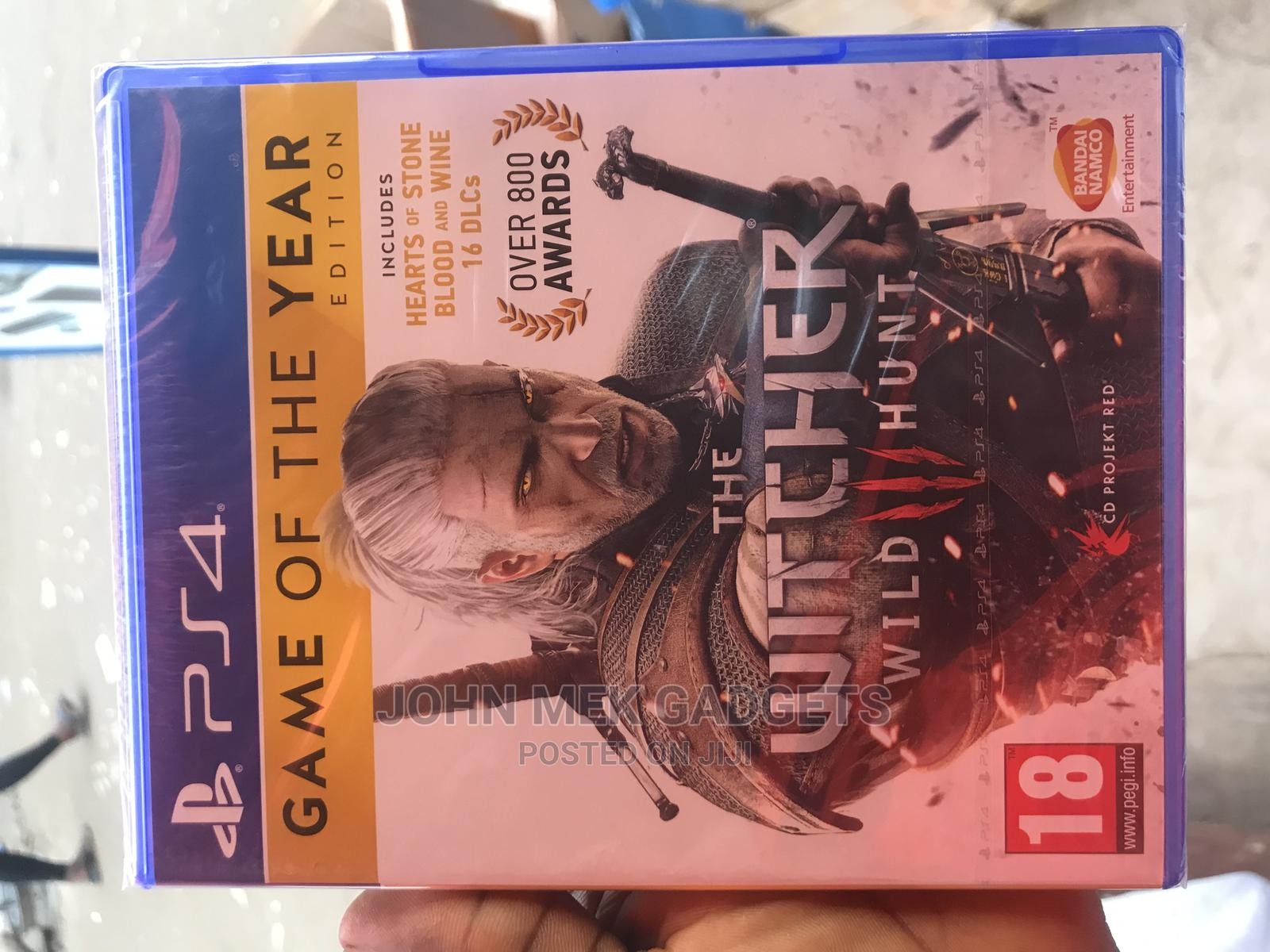 The Witcher Wild Hunt Ps4 Game Cd