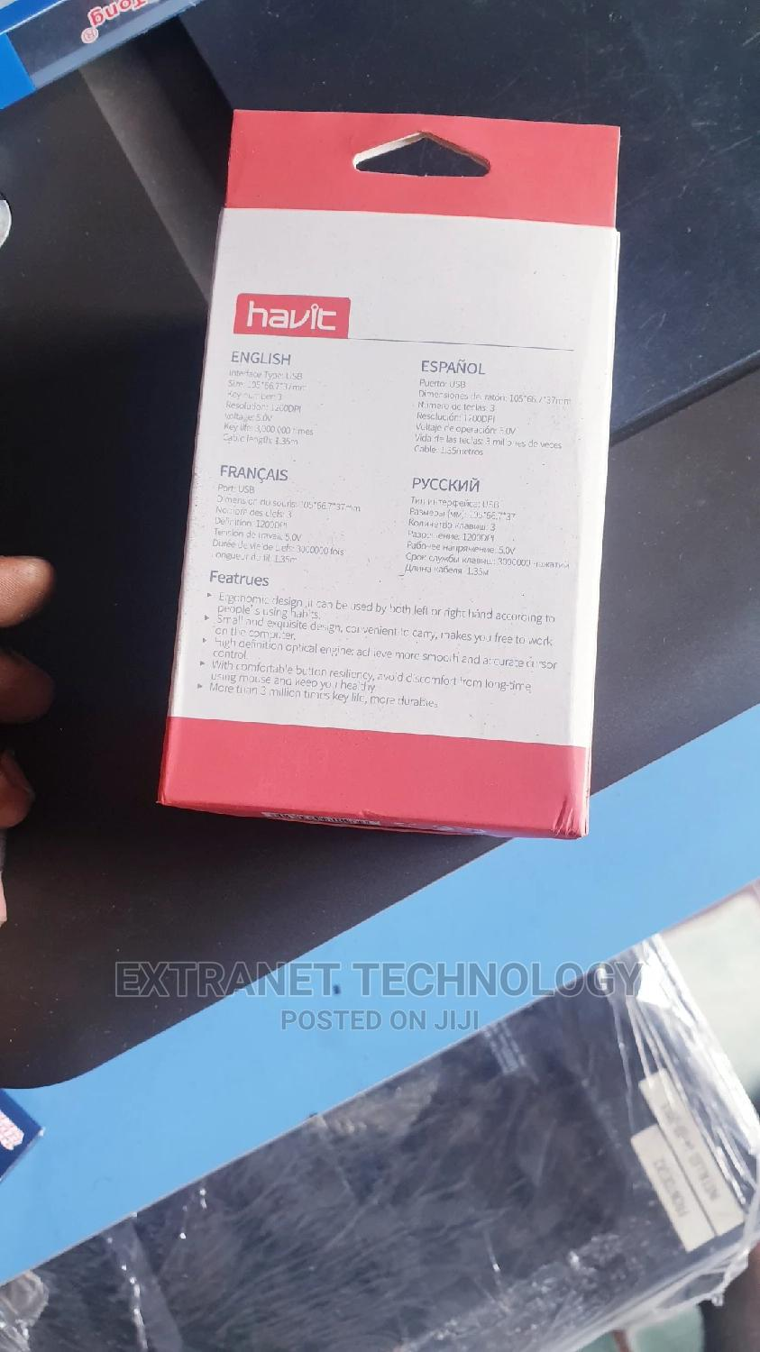 Havit Wired Usb Mouse | Computer Accessories  for sale in Port-Harcourt, Rivers State, Nigeria