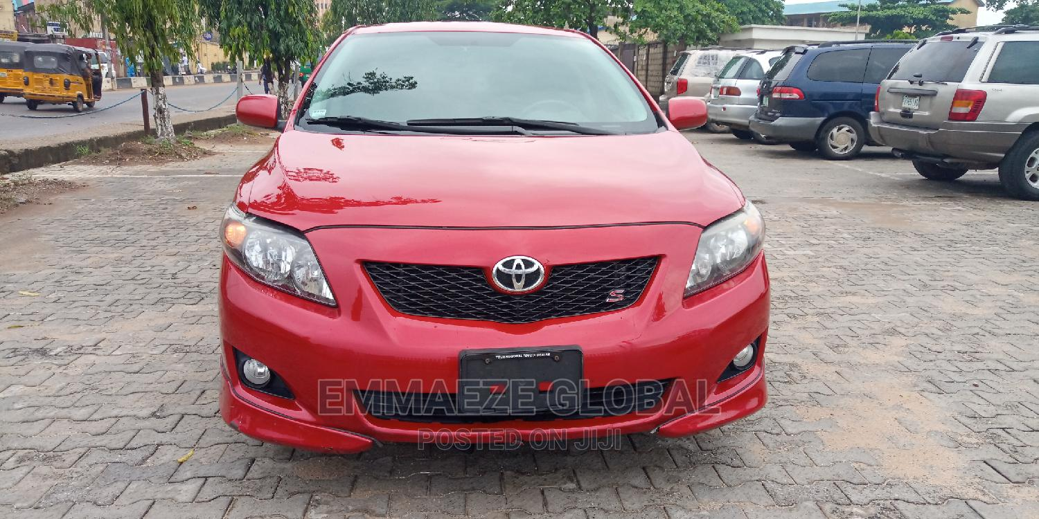 Toyota Corolla 2009 Red | Cars for sale in Isolo, Lagos State, Nigeria