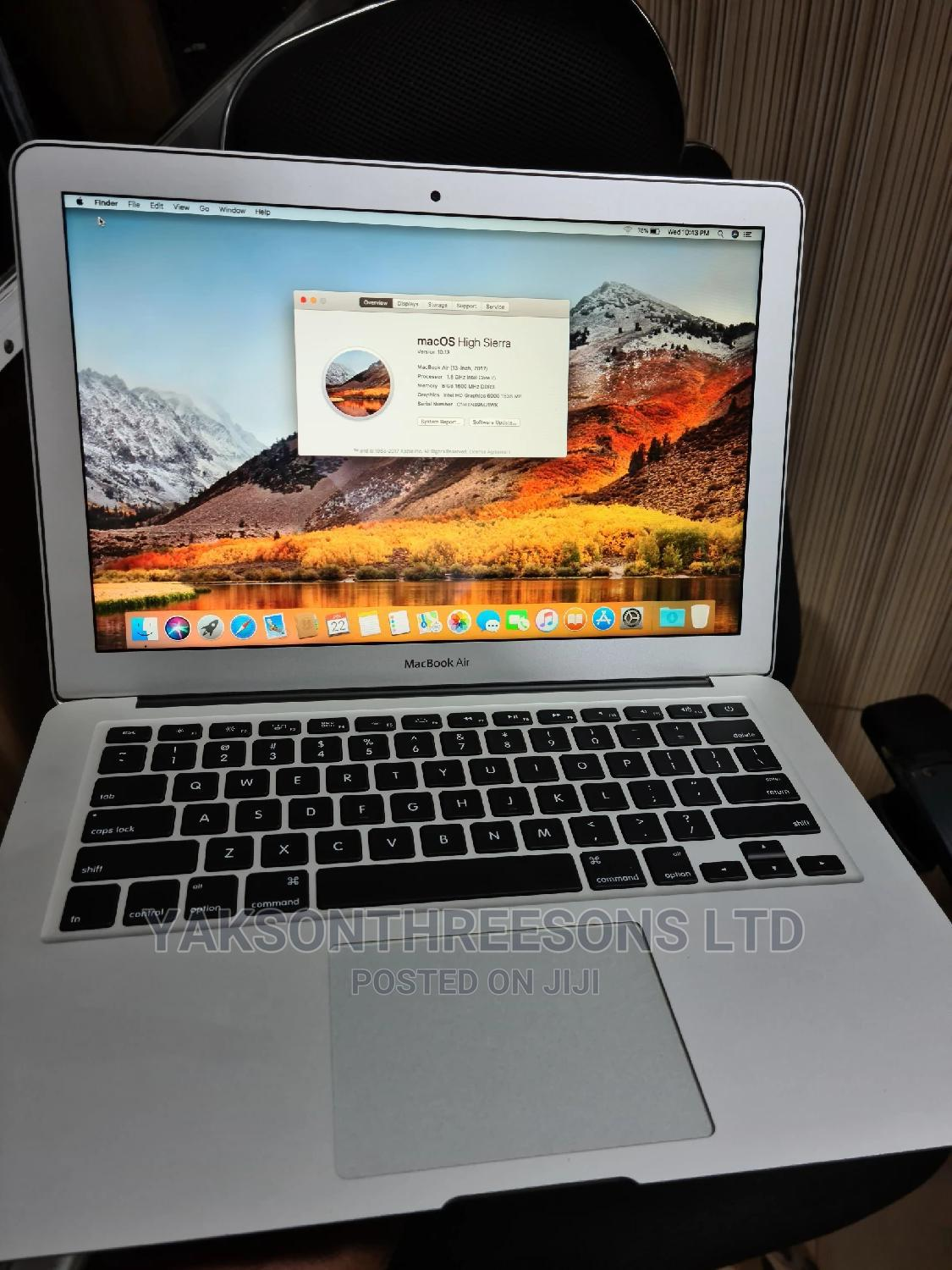 Laptop Apple MacBook Air 8GB Intel Core I5 SSD 128GB   Laptops & Computers for sale in Wuse, Abuja (FCT) State, Nigeria
