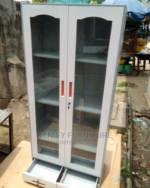 Full Height Glass Door Bookshelf/Cabinet | Furniture for sale in Lagos State, Ojo