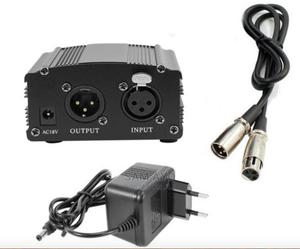 48V Phantom Power Supply With Adapter and XLR Cable for Cond | Accessories & Supplies for Electronics for sale in Lagos State, Ojodu