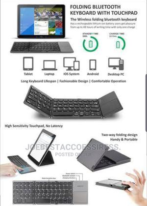 Foldable Bluetooth Keyboard With Touchpad   Accessories for Mobile Phones & Tablets for sale in Lagos State, Ikeja