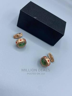 Men's Rose Gold Steel Cuff Links | Clothing Accessories for sale in Lagos State, Ikorodu