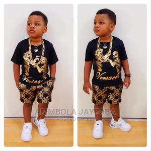 2PCS Versace Boys Clothes T-Shirt+Short Pant Casual Style | Children's Clothing for sale in Oyo State, Ibadan