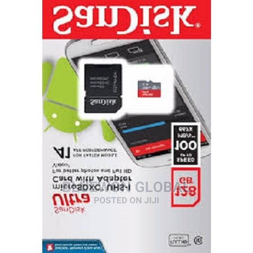 Sandisk Ultra 128gb Micro Sd Memory Card 100mb/S A1 Class 10   Accessories for Mobile Phones & Tablets for sale in Ikeja, Lagos State, Nigeria