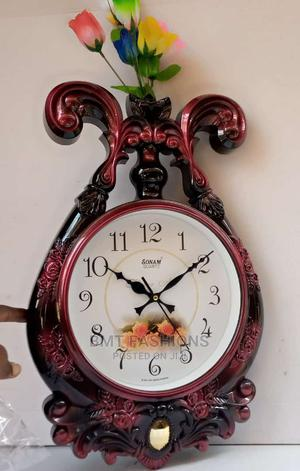 Brown Wooden Clock | Home Accessories for sale in Lagos State, Ogba