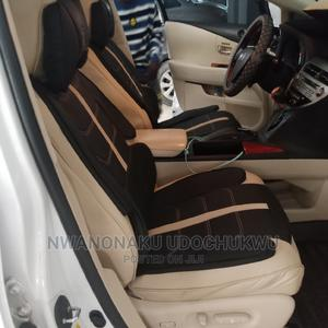 Milk and Black Leather Seat Cover   Vehicle Parts & Accessories for sale in Lagos State, Ikeja