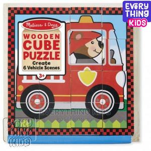 Melissa Doug Wooden Cube Puzzle – Vehicle Scenes | Toys for sale in Lagos State, Ikeja