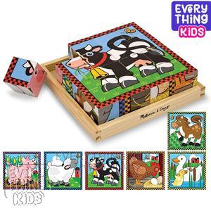 Melissa Doug Farm Animals Wooden Cube Puzzle (6 Farm Scene | Toys for sale in Lagos State, Ikeja