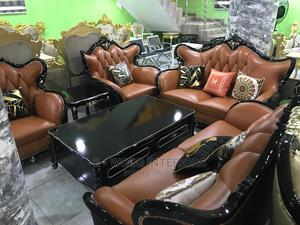 High Quality Pure Leather Sofa Sets.   Furniture for sale in Lagos State, Yaba