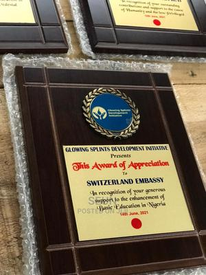 Award Plaque. | Arts & Crafts for sale in Lagos State, Ikeja