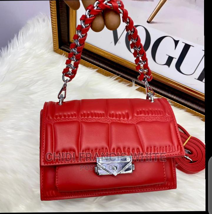 Quality Red Leather Hand Bag