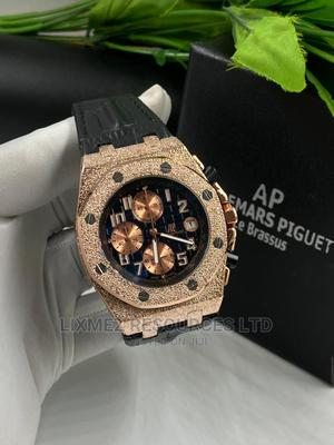 Ap Black Face Leather Wrist Watch | Watches for sale in Lagos State, Amuwo-Odofin