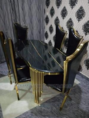 Classic Set of Gold Marble Dinning Table With 6 Chairs | Furniture for sale in Lagos State, Ajah