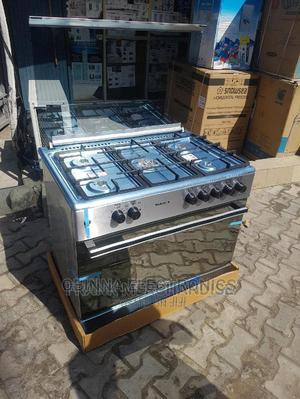 Brand New MAXI 5-Borner-All Gas Standing Cooker,Silver Color | Kitchen Appliances for sale in Lagos State, Ojo