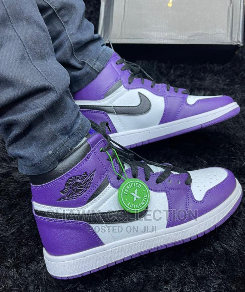 Nike Jordan One Purple Court Sneakers