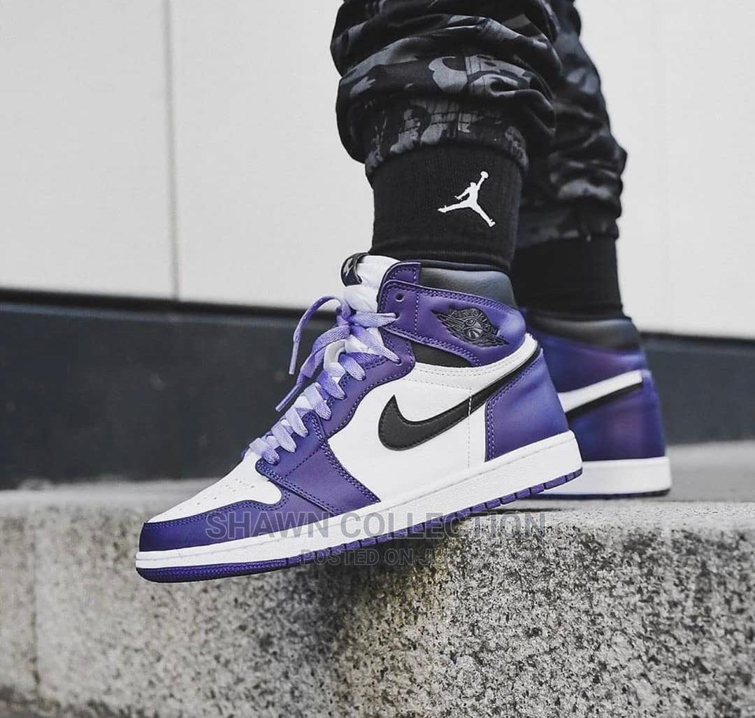Nike Jordan One Purple Court Sneakers   Shoes for sale in Lagos Island (Eko), Lagos State, Nigeria