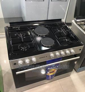 Brand New MAXI(4+2) Standing Gas Cooker (60*90) Silver Color | Kitchen Appliances for sale in Lagos State, Ojo