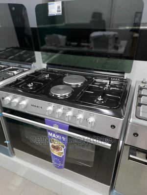 Brand New MAXI(4+2) Standing Gas Cooker (60*90)Silver Colour   Kitchen Appliances for sale in Lagos State, Ojo