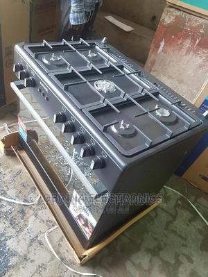 Brand New BRUHM(5burner)ALL Gas Standing Gas Cooker--Silver | Kitchen Appliances for sale in Lagos State, Ojo