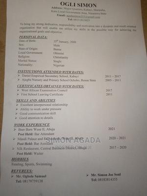Other CVs   Other CVs for sale in Abuja (FCT) State, Karu