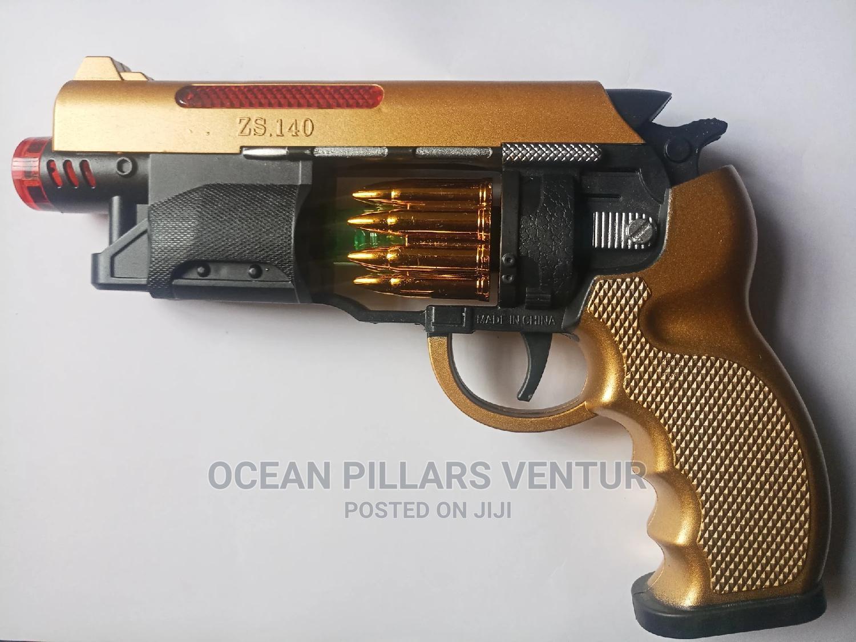 Super Sound Revolving Toy Gun With Light