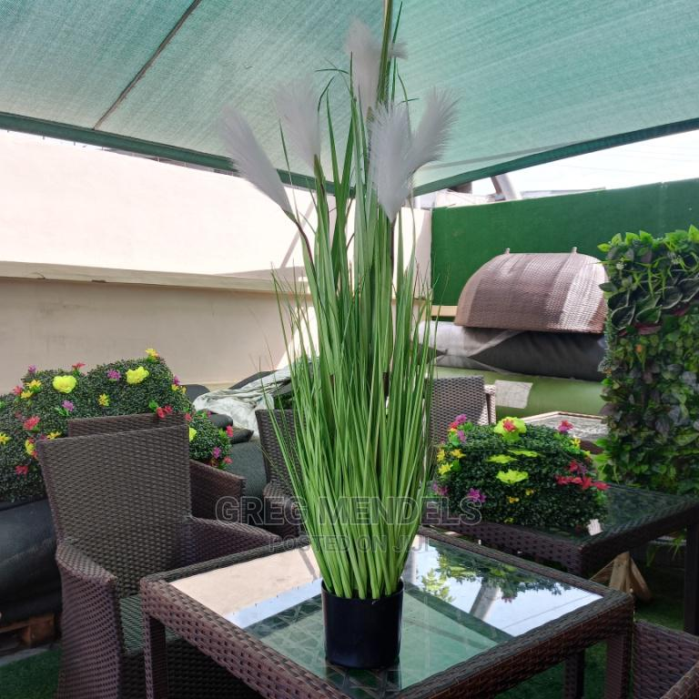 Faux Potted Reed Plant