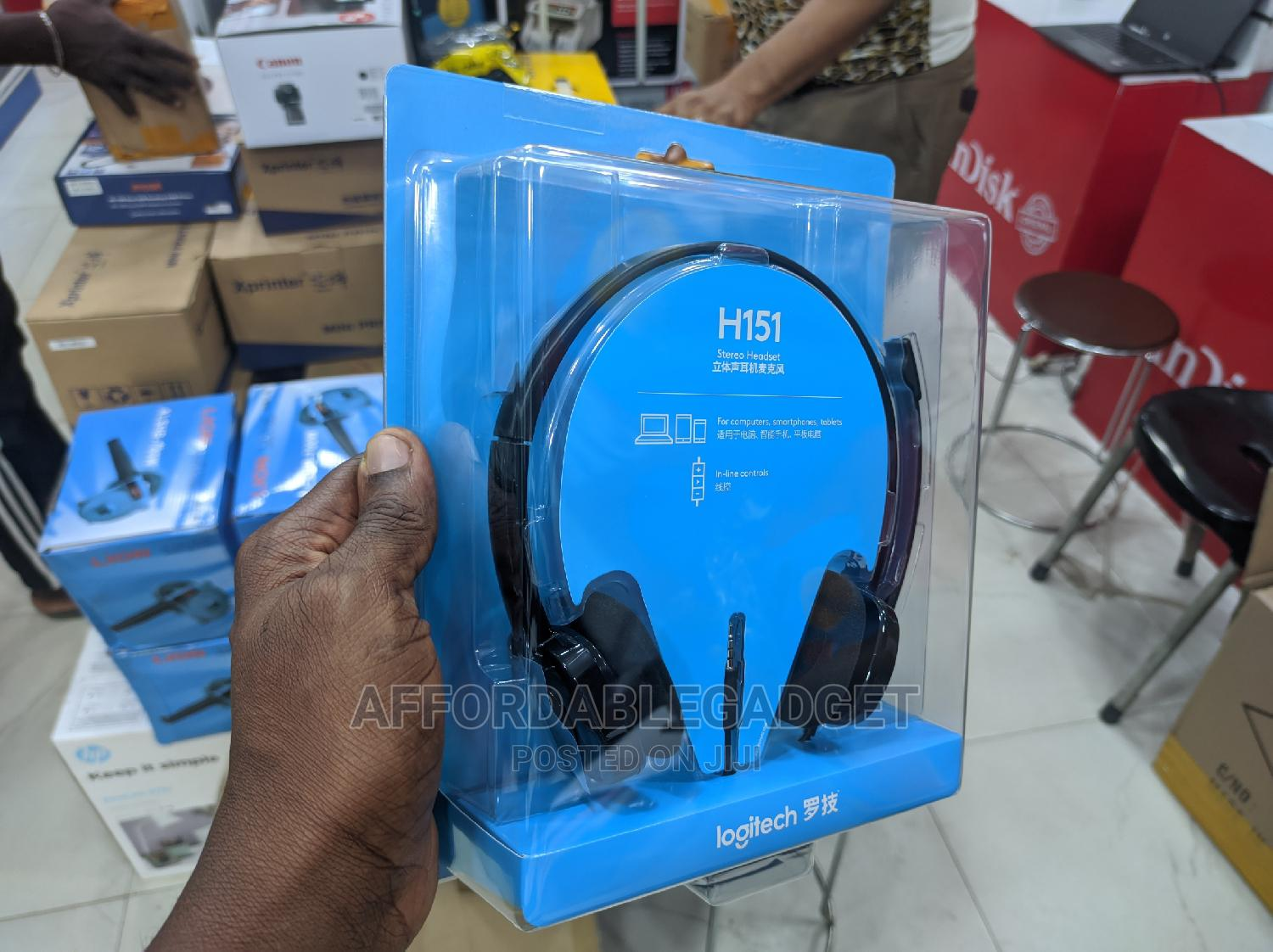 Logitech H151 Stereo Headset With | Headphones for sale in Ikeja, Lagos State, Nigeria