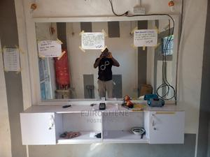 Barbing Saloon Mirror and Console   Furniture for sale in Delta State, Aniocha South