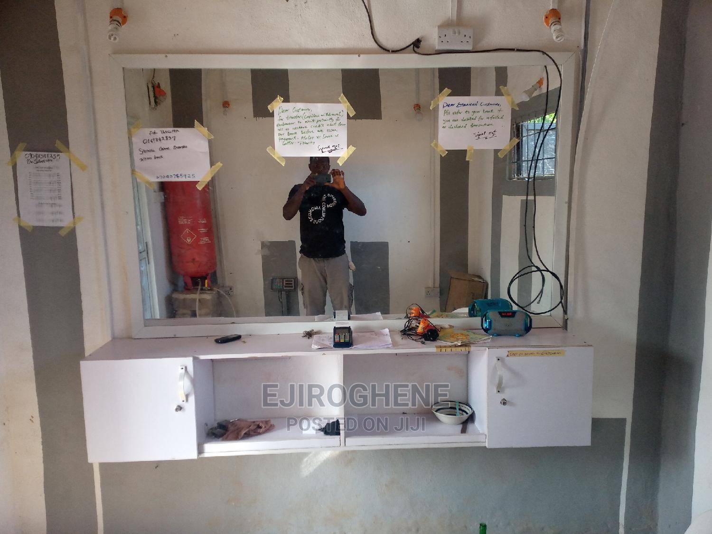 Barbing Saloon Mirror and Console   Furniture for sale in Aniocha South, Delta State, Nigeria
