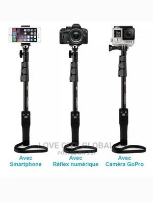 Extendable Monopod Selfie Stick With Bluetooth Remote-Camera   Accessories for Mobile Phones & Tablets for sale in Lagos State, Isolo
