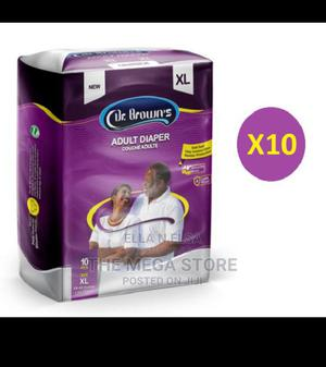 Dr Brown Adult Diapers X10 | Bath & Body for sale in Lagos State, Surulere