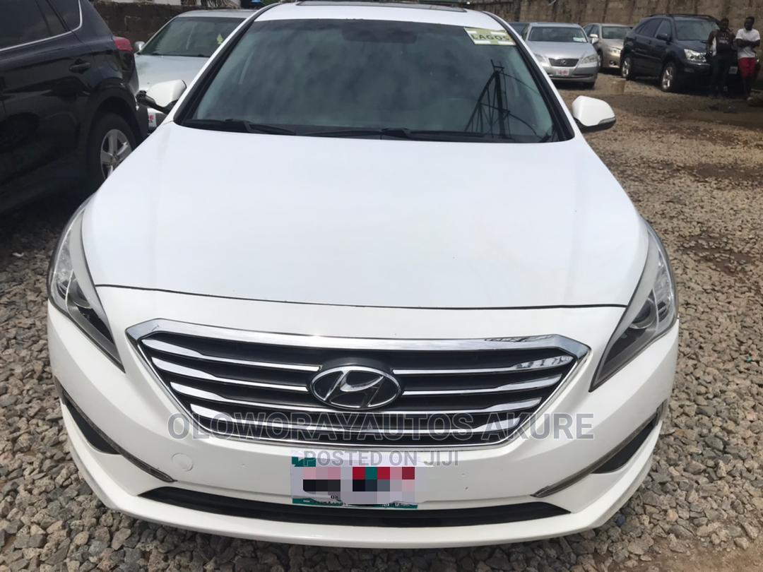 Hyundai Sonata 2014 White   Cars for sale in Akure, Ondo State, Nigeria