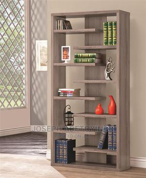 Bookcase Display Cabinet Distressed Grey | Furniture for sale in Lagos State, Amuwo-Odofin