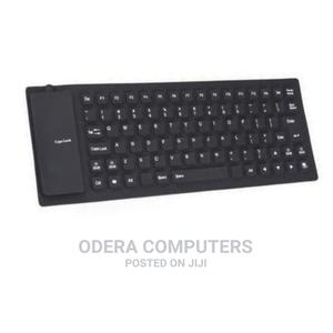 Flexible Authentic USB External Keyboard - Black   Computer Accessories  for sale in Lagos State, Ikeja