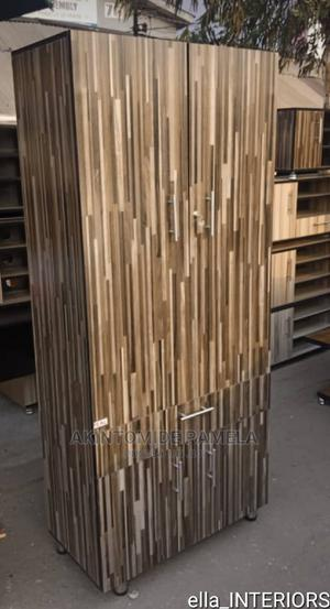 Deep Brown Stripes Wardrobe | Furniture for sale in Lagos State, Maryland
